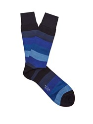 Paul Smith Striped Cotton Blend Socks Blue Multi