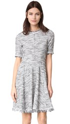 Rebecca Taylor Boucle Tweed Dress Black Chalk