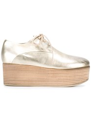 Marsell Platform Lace Up Shoes Metallic