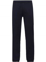 Prada Tailored Jogging Style Trousers Blue
