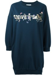 Vivetta Storione Sweatshirt Dress Blue