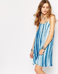 Glamorous Cami Swing Dress In Tie Dye Multi