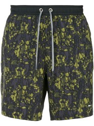 The Upside Camouflage Running Shorts Blue