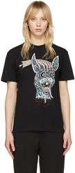 Mcq By Alexander Mcqueen Black Bring Me The Head Of The Bunny T Shirt