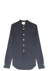 Forte Forte Cotton Voile Shirt Navy
