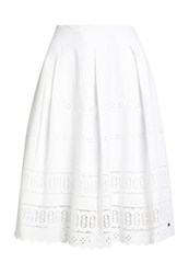 Superdry Broderie Shimmer Midi Skirt Winter White