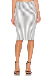 Wyldr Delilah Pencil Skirt White