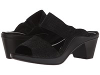 Romika Mokassetta 315 Black Clog Mule Shoes