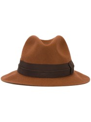 Paul Smith Contrast Strap Hat Brown