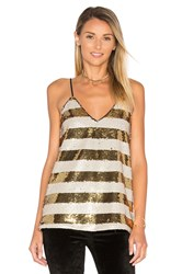 Blaque Label Striped Sequin Cami Metallic Gold