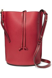 Loewe Gate Textured Leather Bucket Bag One Size