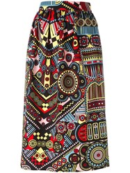 Holly Fulton Printed Straight Skirt