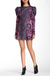 Nuvula Vegan Leather Printed Dress Purple