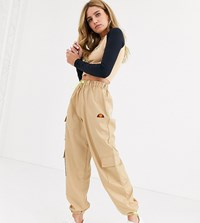 Ellesse High Waist Cargo Pants With Pockets Beige