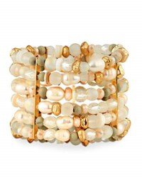 Lydell Nyc Large Multi Row Beaded Statement Bracelet