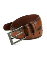Perry Ellis Perforated Leather Belt Tan