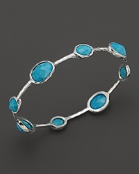 Ippolita Sterling Silver Rock Candy 8 Stone Bangle In Turquoise No Color