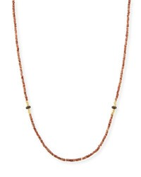 Armenta Old World Beaded Zircon Necklace With Diamonds 42 Neutral Pattern