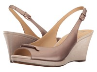 Naturalizer Oleander Bonze Metallic Leather Women's Wedge Shoes Bronze