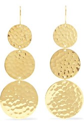 Jennifer Meyer Hammered 18 Karat Gold Earrings