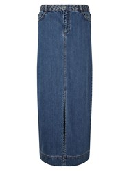 East Denim Maxi Skirt Indigo