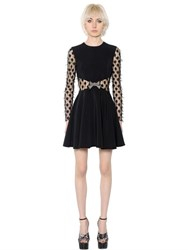 Giamba Fil Coupe Polka Dots Tulle And Crepe Dress