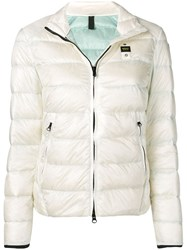 Blauer Zip Puffer Jacket White