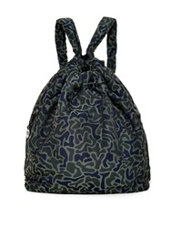 Y 3 Camouflage Print Drawstring Backpack