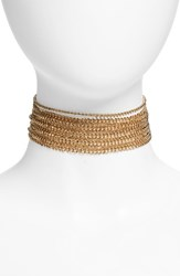 Topshop Women's Multi Row Chain Choker Gold