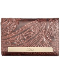 Patricia Nash Burnished Tooled Lace Cametti Wallet Dark Brown