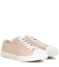 Prada Patent Leather Sneakers Neutrals