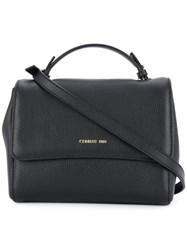 Cerruti 1881 Logo Stamp Tote Women Calf Leather One Size Black