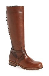 Wolky Women's Belmore Tall Boot Cognac Velvet Leather