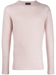 Roberto Collina Long Sleeve Fitted Sweater Pink