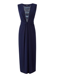 Grace Made In Britain Maxi Dress Navy