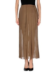 Met And Friends Long Skirts Khaki