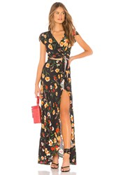Flynn Skye All Wrapped Up Maxi Dress Black