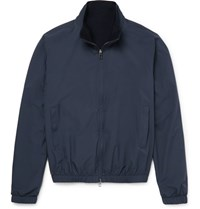 Loro Piana Reversible Storm System Shell And Cashmere Bomber Jacket Navy