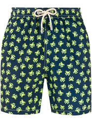 Mc2 Saint Barth Micro Print Swim Shorts Blue