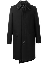Valentino Leather Collar Single Breasted Coat 60