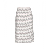 Thom Browne Tweed Skirt Light Grey Graphic With Red White Blue