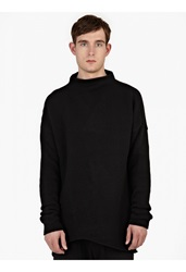 Thom Krom Black Oversized Wool Blend Sweater