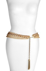 Women's St. John Collection Two Tone Multistrand Glass Pearl Belt