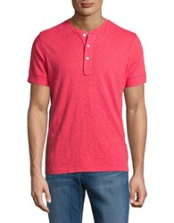 Brooks Brothers Cotton Henley Tee Red