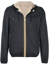 K Way Contrast Trim Windbreaker Black