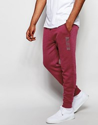 Hollister Core Jogger In Burgundy Burgundy Red