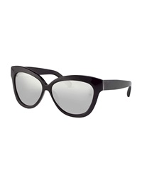 Thick Cat Eye Sunglasses Black Linda Farrow