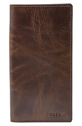 Fossil Men's 'Derrick' Leather Executive Checkbook Wallet