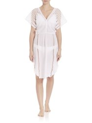 Vix By Paula Hermanny Nadja Cotton Voile Caftan Off White