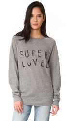 Current Elliott The Oversized Sweatshirt Heather Grey Super Loved